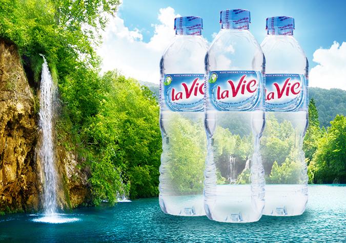 Nước khoáng Lavie - Nestlé Waters thực hành chất lượng.
