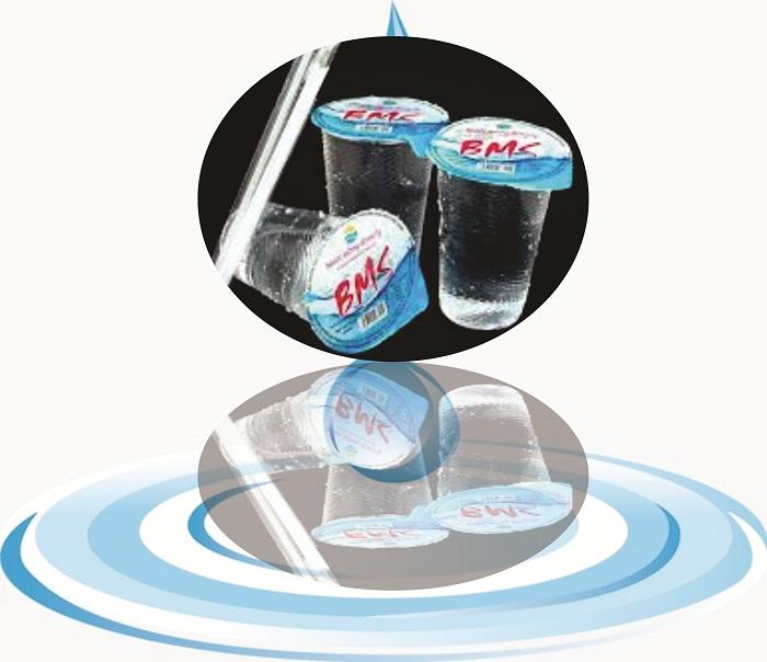 Nước suối ly BMS thể tích 240ml (Thùng có 48 ly có sẵn ống út kèm theo)