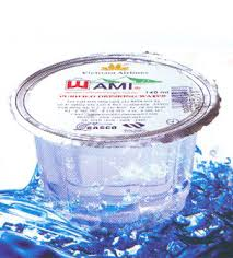 Phân phối nước suối đóng ly wami dung tích 140ml ( 1 thùng / 60 hủ )
