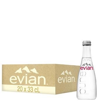 Nước khoáng Evian 330ml chai Thủy Tinh (20 chai / Thùng)
