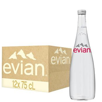 Nước khoáng Evian 750ml chai Thủy Tinh (12 chai / Thùng)