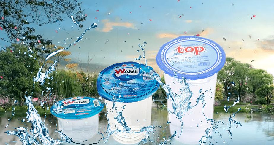 Nước suối ly wami 140ml siêu nhỏ gọn có ống hút kèm theo